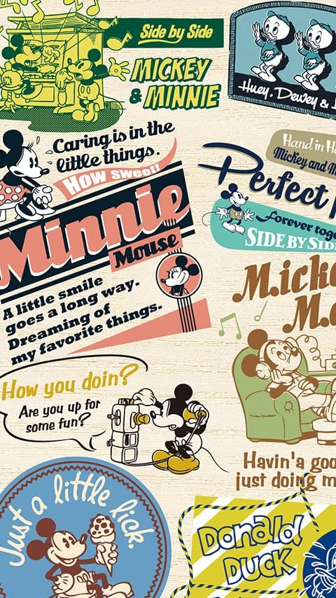 ディズニー バッジアート ミッキー&フレンズ XFVGA(480×854)壁紙 画像58076 スマポ