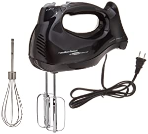 Hamilton Beach 62692 Hand Mixer with Snap-On Case, Black