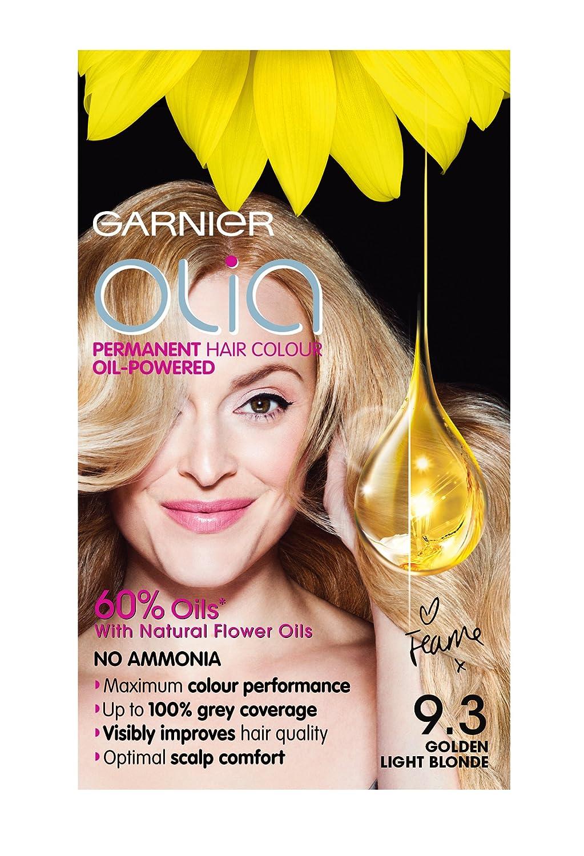 Garnier olia permanent hair colour golden brown 5 3 - Garnier Olia 9 3 Golden Light Blonde Permanent Hair Dye Amazon Co Uk Beauty