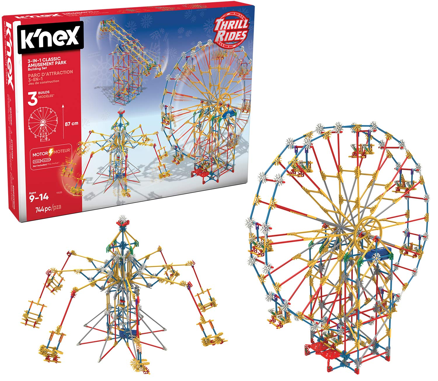 K'NEX Thrill Rides - 3-in-1 Classic Amusement Park Building Set