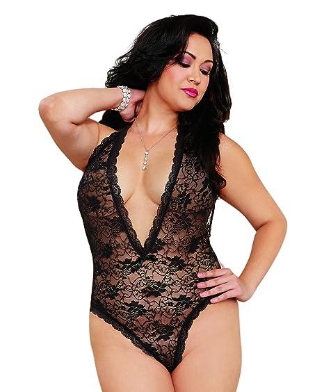 Body Noir décolleté Grande Taille Ouverture Coeur sur Les Fesses   Amazon.fr  Vêtements et accessoires e0590db4e3d