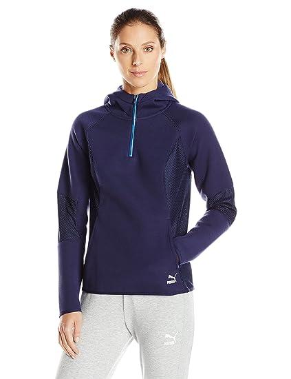 Amazon.com  PUMA Women s Evo Half Zip Hoodie  Clothing abfeb1b94c