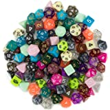 Wiz Dice Series III 100+ Pack of Random Polyhedral Dice Sets, New Neon, Pearl, Translucent, Solid, and Glitter…