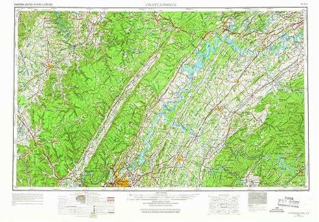 Amazon Com Yellowmaps Chattanooga Tn Topo Map 1 250000 Scale 1 X