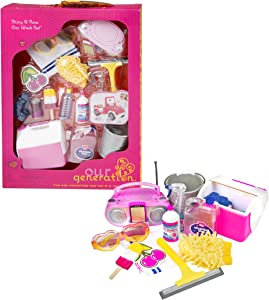 Our Generation Shiny and New Car Wash Set for 18-Inch Dolls