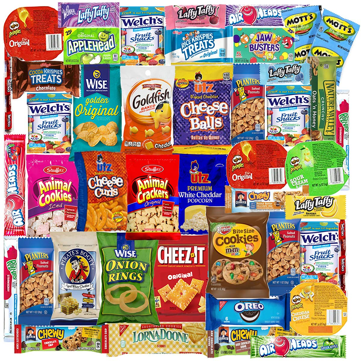 Blue Ribbon Care Package 45 Count Ultimate Sampler Mixed Bars, Cookies, Chips, Candy Snacks Kasten für Office, Meetings, Schools,Friends & Family, Military,College, Halloween, Spaß Variety Pack