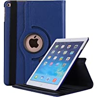 Robustrion Smart 360 Degree Rotating Stand Case Cover iPad 9.7 inch 2018/2017 5th 6th Generation - Navy