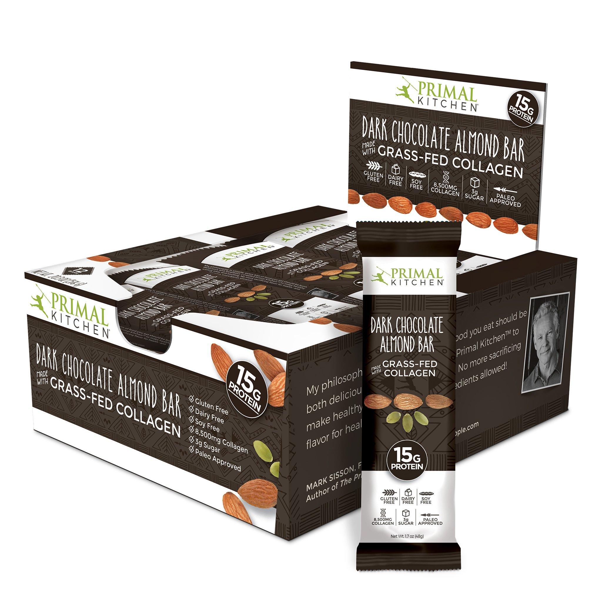 Primal Kitchen Dark Chocolate Almond Bars  Pack