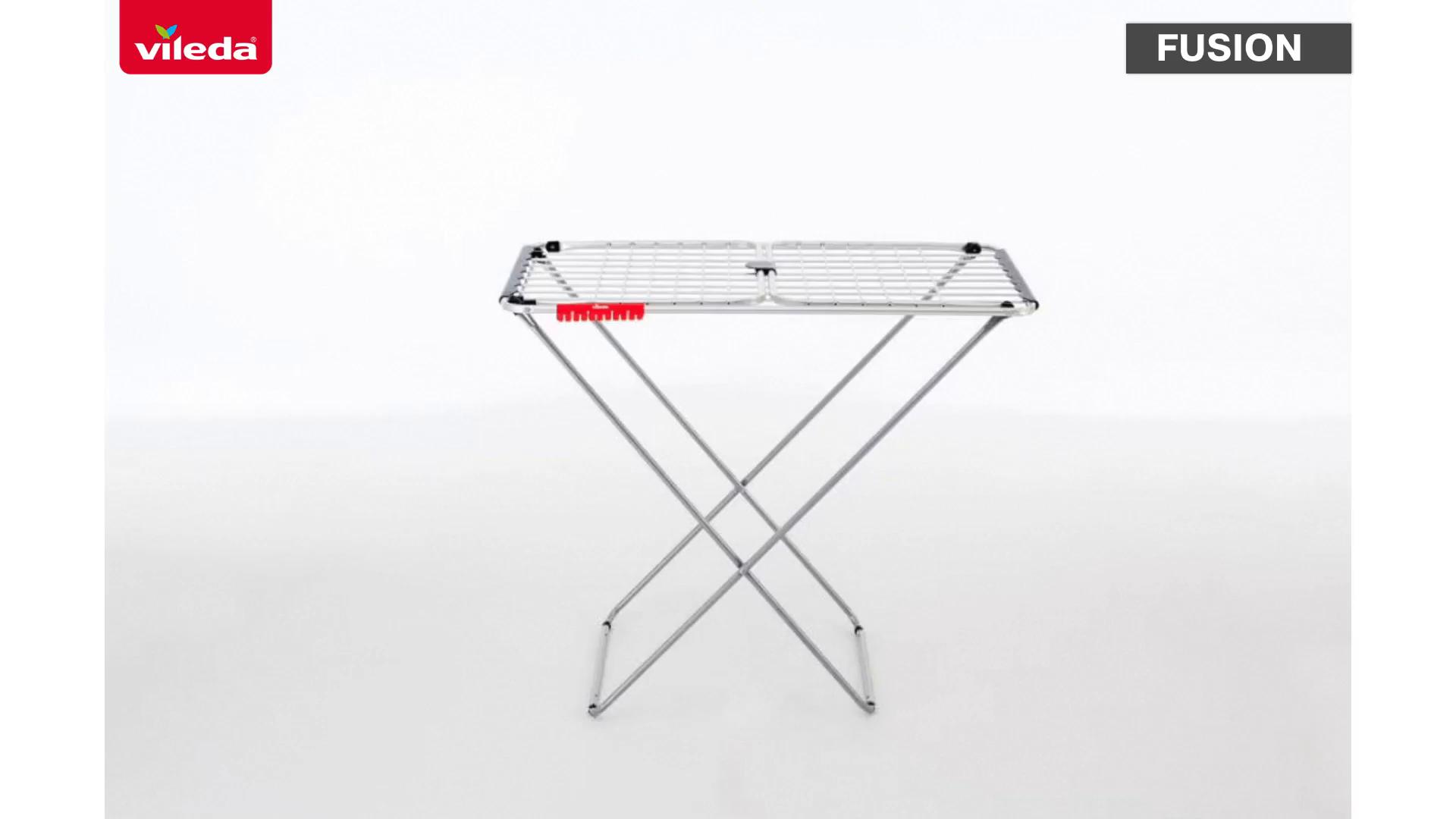 Vileda Fusion - Tendedero X-Legs de Aluminio y Acero, Plateado, 128.5 x 4.5x 205 cm: Amazon.es: Hogar