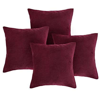 Amazon Deconovo Decorative Pillow Covers Corduroy Pillow Case Amazing Pillow Case Covers For Throw Pillows