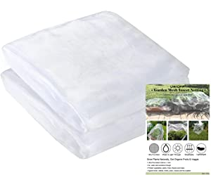 UWIOFF 2 Pack 9.8 x 6.5 Ft Mesh Netting, Mesh Garden Netting for Protect Plants Vegetables Fruit Crops, Cicada Netting for Trees Row Covers Raised Bed Protection Mesh Net Cover