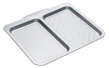 Kitchen Craft - Bandeja para Horno con Doble Compartimento (Antiadherente)