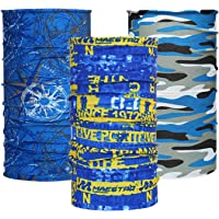 HKUCO Magic Headband Scarf for Cycling,Outdoor Sports, Motorcycle Riding,Polyester Scarf Face Neck Warmer Mask-3 Pcs