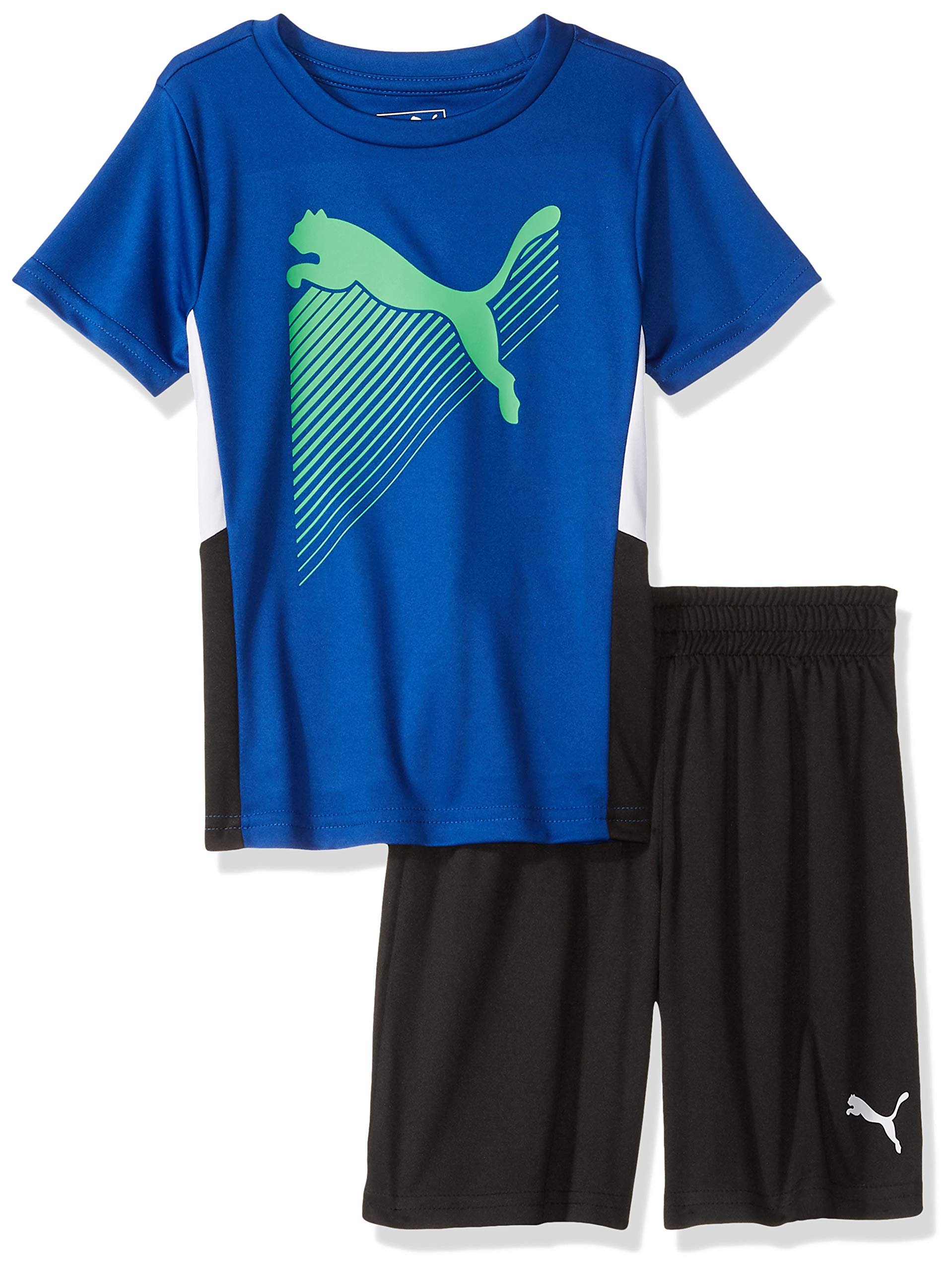 PUMA Little Boys' T-Shirt & Short Set, Surf The Web 7