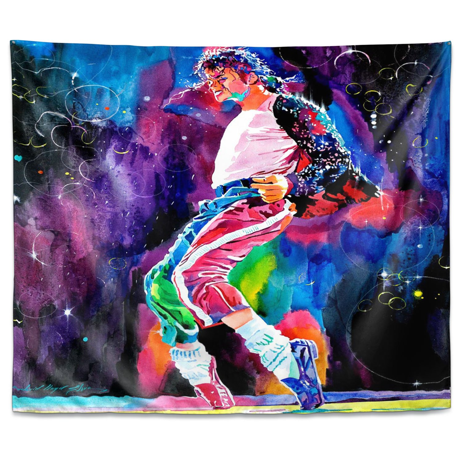 DiaNoche Wall Tapestry by David Lloyd Glover Michael Jackson Dance