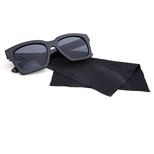 2de741a053ff Amazon.com  GAMT Sunglasses Tide Vintage Frame Fashion Eyewear Black Frame  Black Lens  Shoes