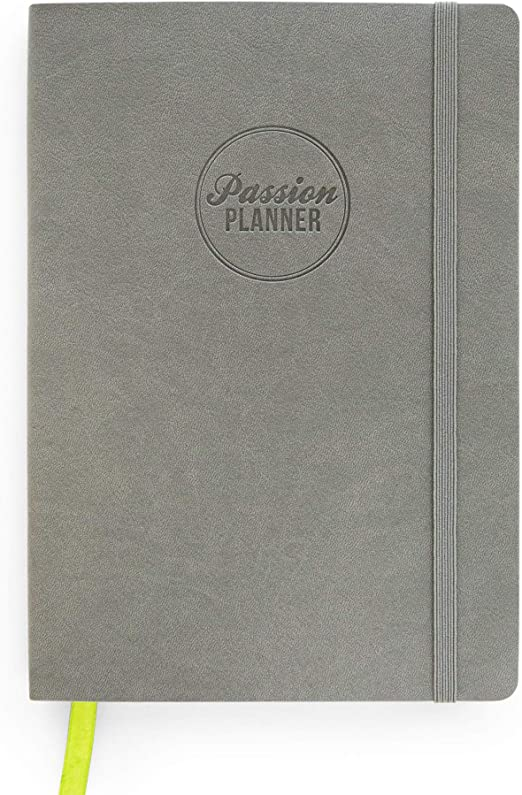 Academic Passion Planner Small Aug 20-Jul 21 (A5-5.8 x 8.3 in) Monday Start Goal-Getter Gray