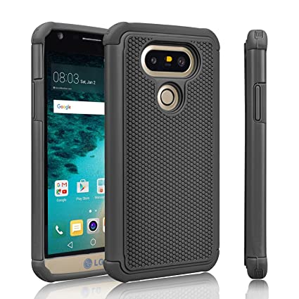 best authentic d7907 13a02 LG G5 Case, Skypillar Canada , [Dual Layer][Anti-Drop] Rugged Impact Heavy  Duty Hybrid Shock Proof silicone Hard Cover for LG G5 (LGH831) - Black