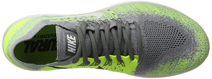 Amazon.com | Mens Nike Free RN Flyknit 2017 Running Shoe Size 9.5 (COOL GREY/WHITE-WOLF GREY-VOLT) | Road Running