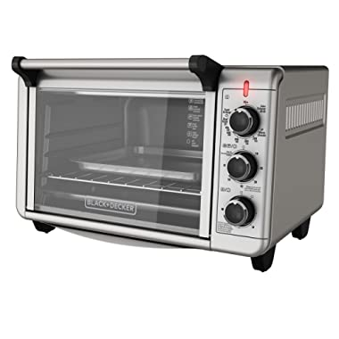 BLACK+DECKER TO3210SSD 6-Slice Convection Countertop Toaster Oven, Silver