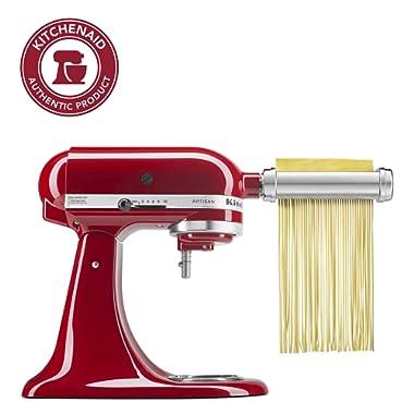 KitchenAid KSMPRA 3-Piece Pasta Roller & Cutter Attachment Set, Silver, Pack of 1