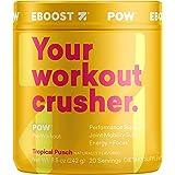 EBOOST POW Pre-Workout Powder, Tropical Punch Flavor, 20 Servings Tub