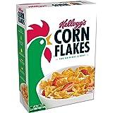 Corn Flakes Kellogg's, Breakfast Cereal, Original, Fat-Free, 24 oz Box