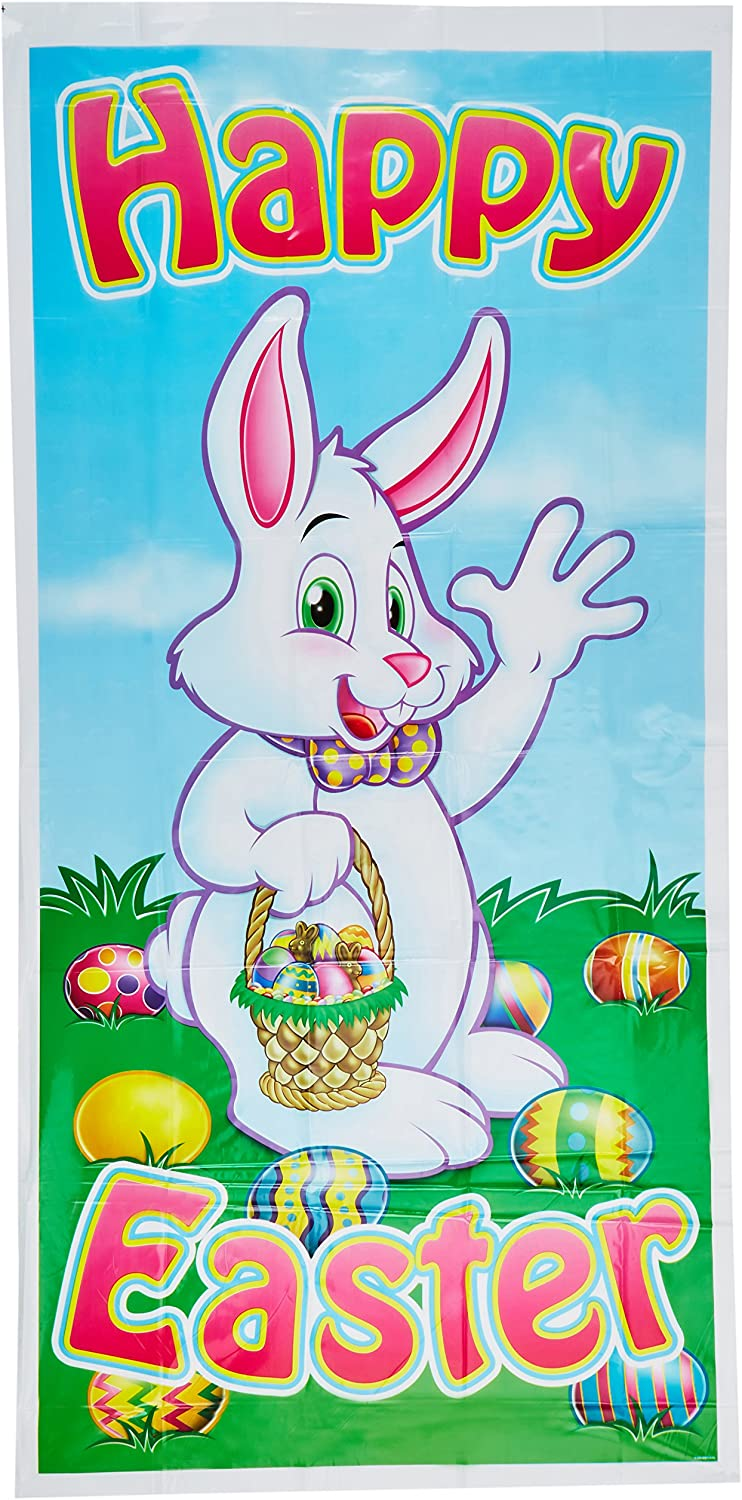 Beistle 40010 1-Pack Easter Door Cover for Parties 30 by 5-Feet