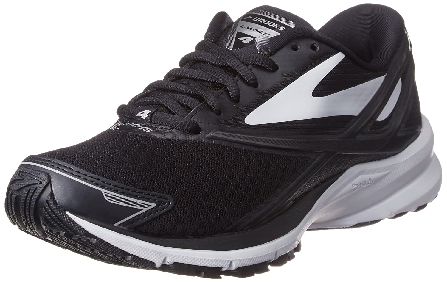Black White Silver Brooks Women's Ghost 11 Running shoes