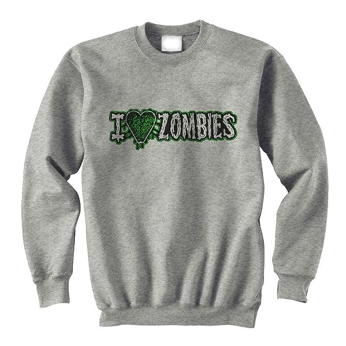 I Love Zombie Green Words Quotes XXL Unisex Sweater: Amazon.es: Ropa y accesorios