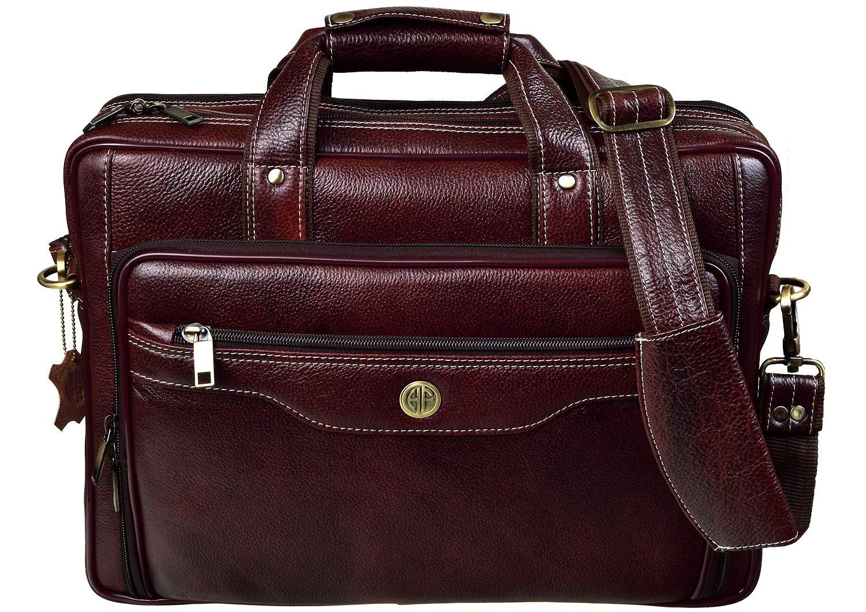 Hammonds Flycatcher Original Brown Leather 15.6 Inch Laptop