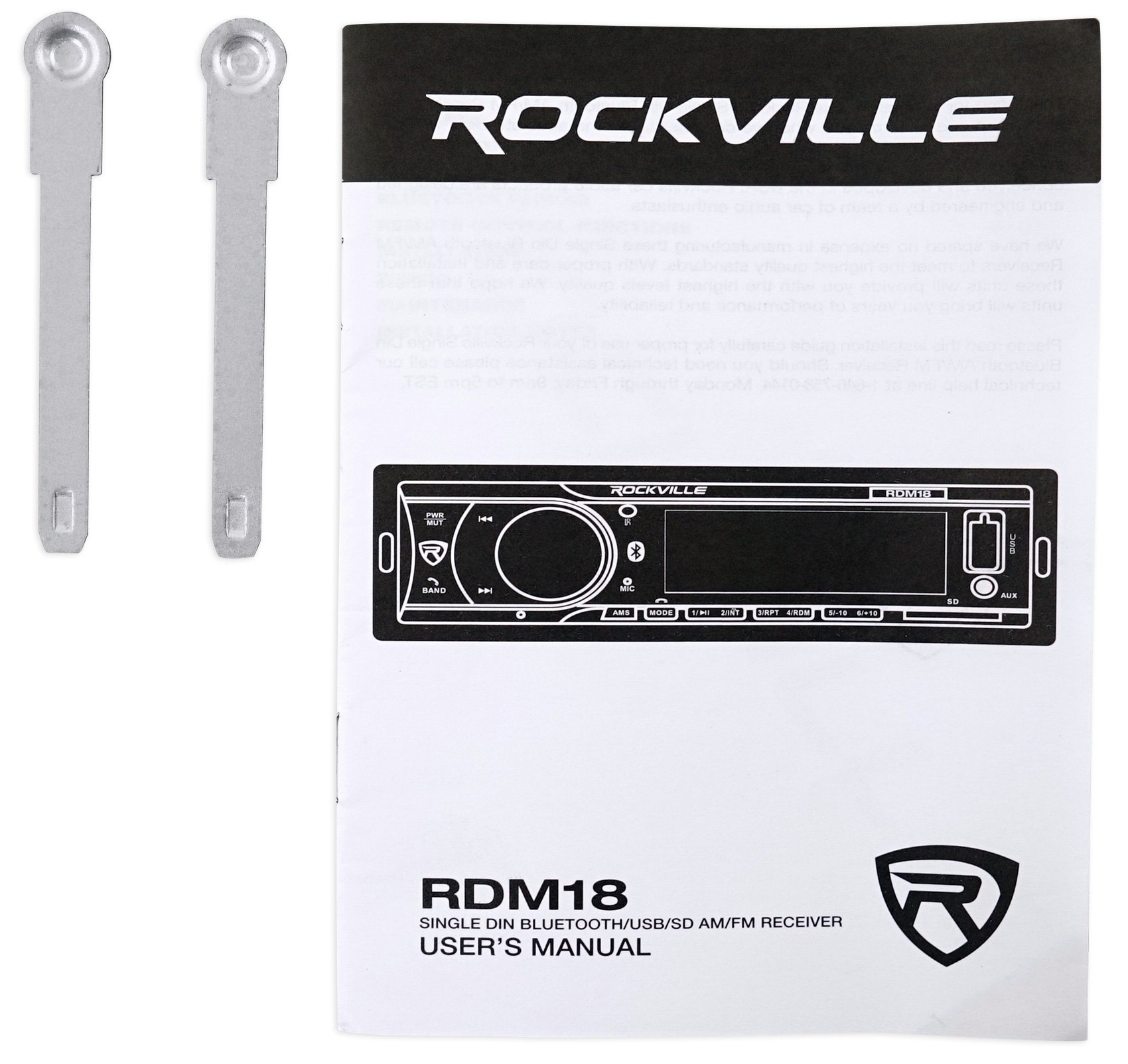 Car Digital Media Bluetooth AM/FM/MP3 USB/SD Receiver For 2003-2007 Honda Accord by Rockville (Image #7)