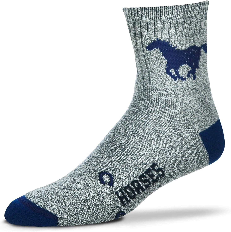 For Bare Feet Horse Marbledクルーソックス – 大人用Mサイズ