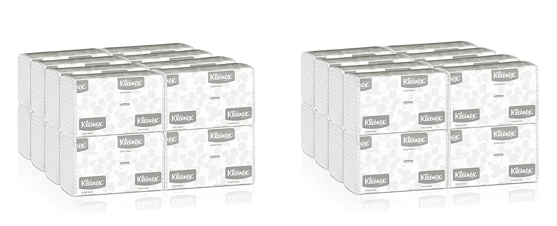 Kleenex C折りPaper Towels ( 01500 )吸収性、ホワイト、16パック/ケース、150 C-foldタオル/パック、400台タオル/ケース 2 Cases (2400 Paper Towels) B074LYFRTC  2 Cases (2400 Paper Towels)
