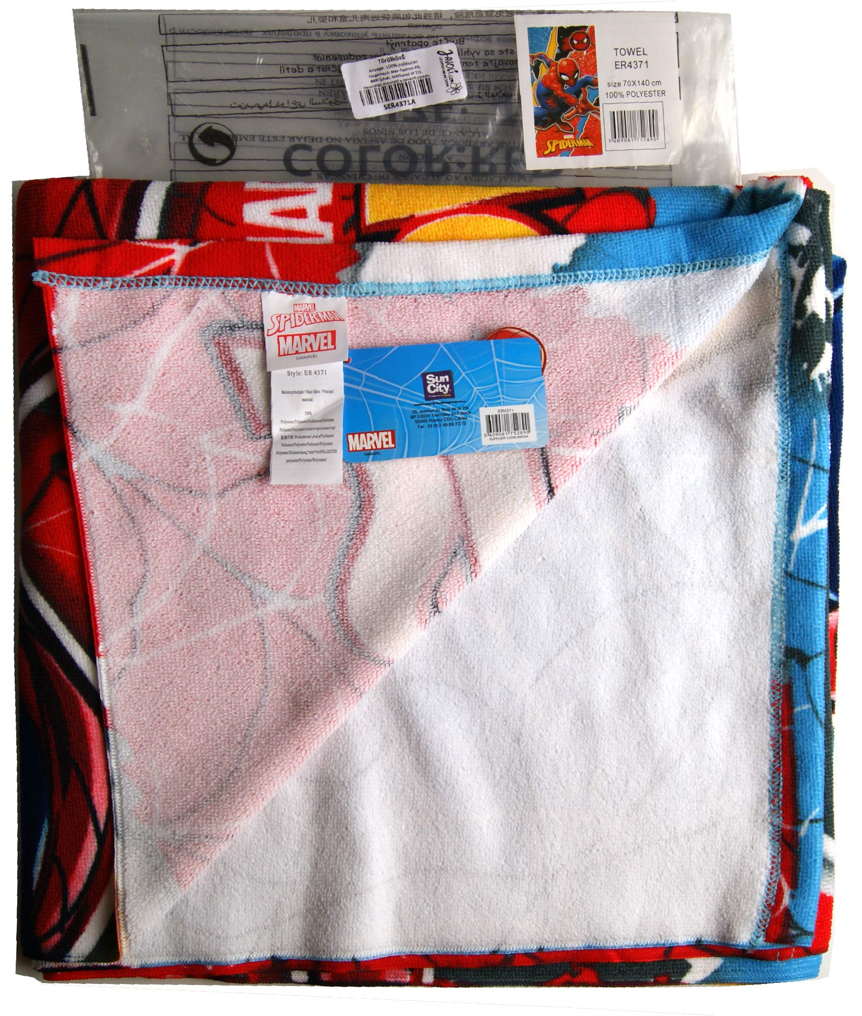 Spiderman Towel,Bath Towel,Swimming Pool,Towel,Beach Towel,Official Licensed by Marvel Spiderman. (Image #3)