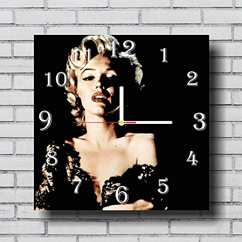 Marilyn Monroe 11.4 Handmade Wall Clock – Get Unique d cor for Home or Office Best Gift Ideas for Kids, Friends, Parents and Your Soul Mates