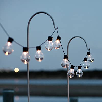 Solar Powered Globe String Lights with 10 Warm White LEDs : Garden & Outdoor