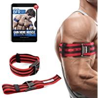 "Occlusion Training Bands by BFR Bands PRO X Model, 2 Pack, Blood Flow Restriction Bands with Research-Backed 2"" Width…"