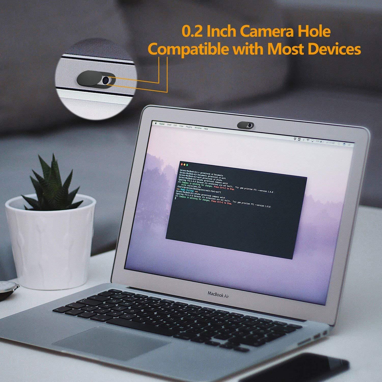 iVoler [8 Unidades] Cubierta Webcam, Webcam Cover Slider Diseño Ultra Fino Camera Cover Tapa Webcam para Todo Tipo de Ordenadores Portátiles, ...