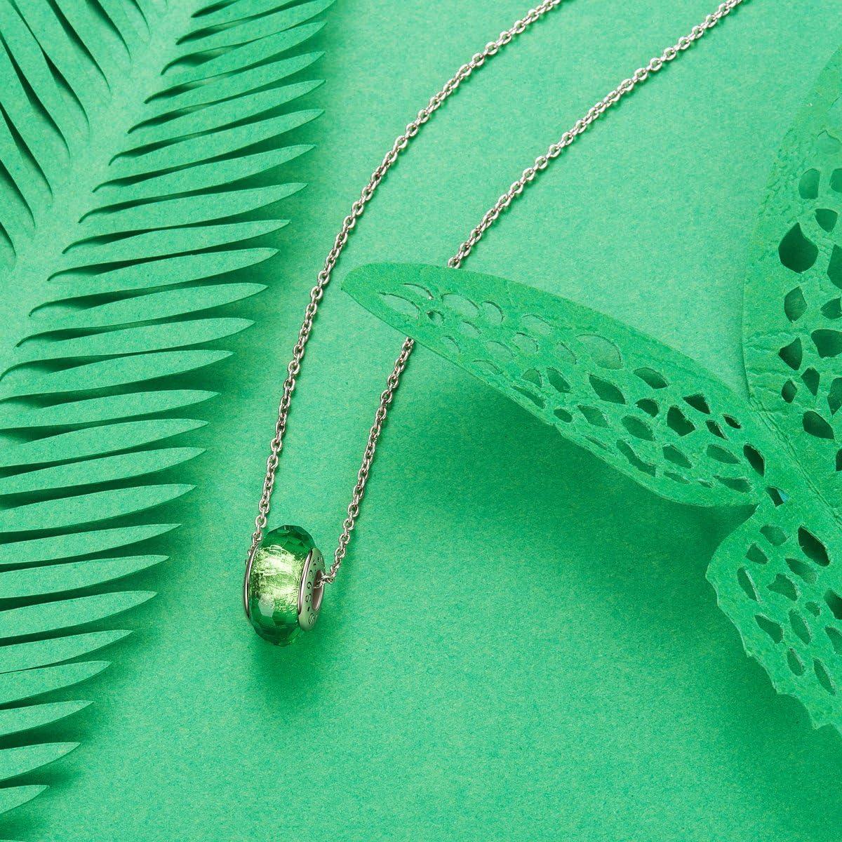 TinySand Couleurs au Choix Decorative Charm de Perle en Verre de Murano et 925 Argent Compatible pour Bracelets Europeens