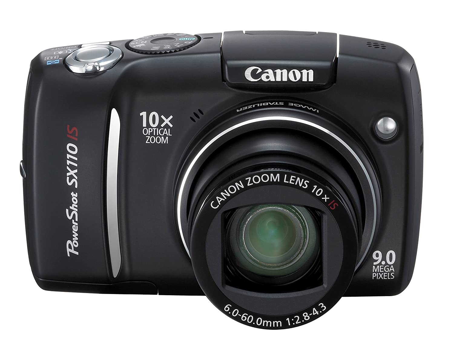 Amazon Canada: Canon Powershot SX110IS 9MP Digital Camera with 10x Optical  Image Stabilized Zoom (Black)