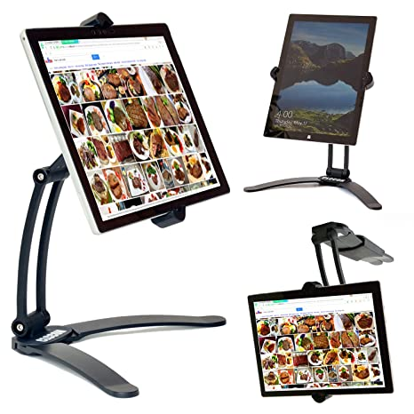 Astonishing Tablet Ipad Holder Stand Adjustable Mount Kitchen Cabinet Desktop Countertop Mount Stand For Ipad 2017 2018 Surface Go Pro Pro 3 Etc Home Interior And Landscaping Palasignezvosmurscom