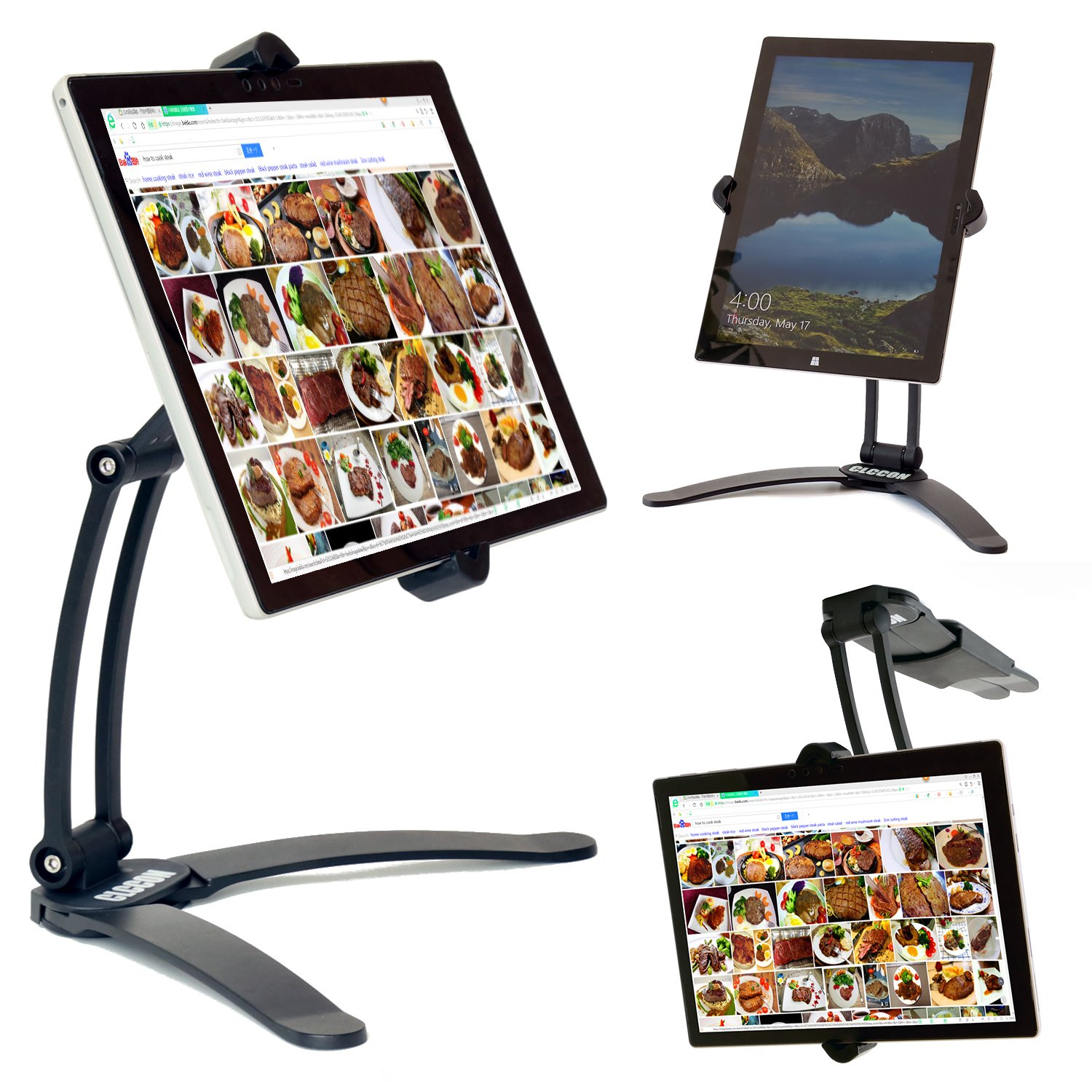 Tablet iPad Holder/Stand Adjustable Mount Kitchen Cabinet/Desktop Countertop Mount Stand for iPad 2017 ...  sc 1 st  Amzn.promo & Tablet iPad Holder/Stand Adjustable Mount Kitchen Cabinet/Desktop ...