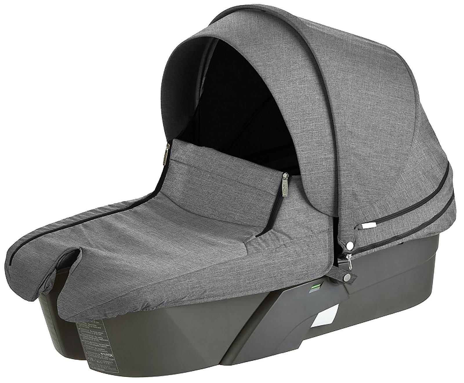 Stokke Xplory Carry Cot Complete, Black Melange