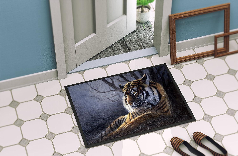 Multicolor 24 H x 36 W Carolines Treasures BDBA0251JCMTBengal Tiger by Daphne Baxter Kitchen or Bath Mat