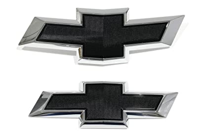 OEM NEW Front & Rear Black Bowtie Emblem Package 2018 Chevrolet Equinox  23373665
