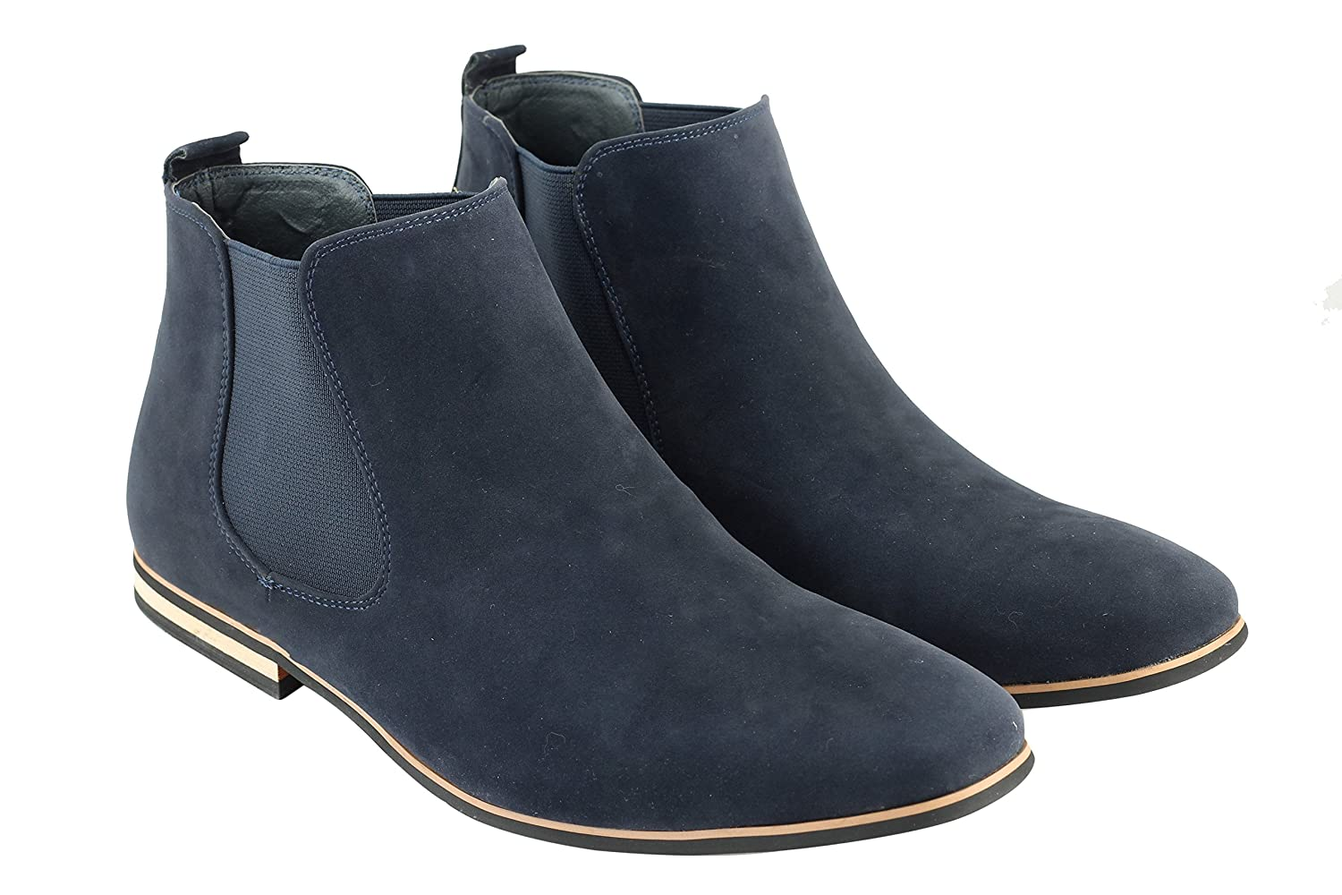 Mens Suede Chelsea Boots Italian Style Smart Casual Desert Dealer Ankle  Shoes: Amazon.co.uk: Shoes & Bags