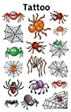 Avery Zweckform 56693 Kinder Tattoos Spinnen (temporäre Transferfolie, dermatologisch getestet) 17 Aufkleber