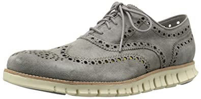 Cole Haan Men's Zerogrand Wing Oxford, Ironstone Kudo Suede, 7 M US
