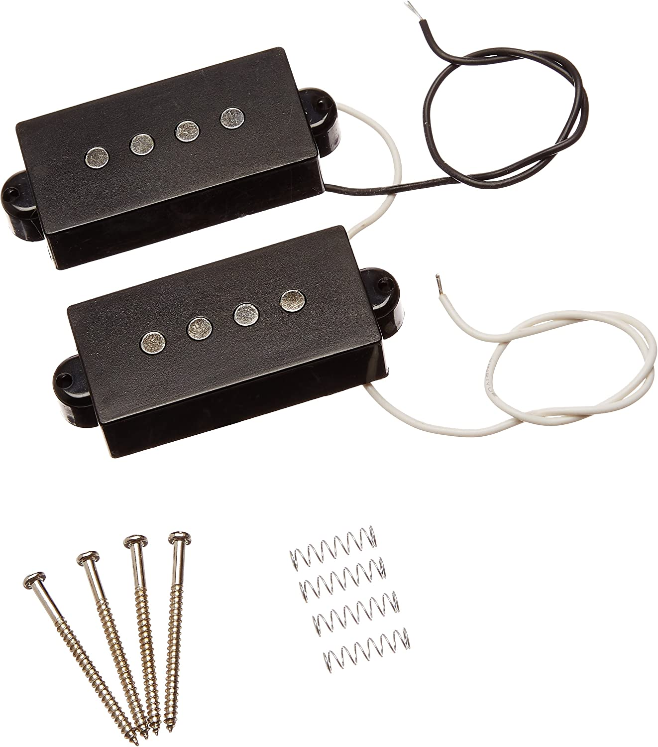Black 4 String Electric Pickup Humbucker For Precision Bass Guitar 1 Pair From Kmise